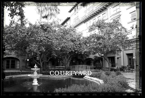 Pasadena Courtyard Film Location